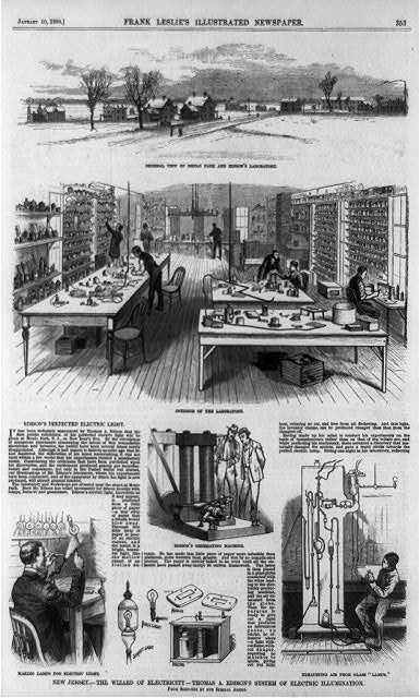 New Jersey--the wizard of electricity--Thomas A. Edison's system of electric illumination