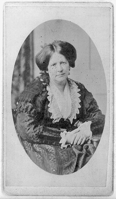 [Anne (Burrows) Gilchrist, half-length portrait, seated, facing front]