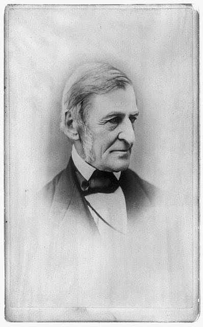 [Ralph Waldo Emerson, head-and-shoulders portrait, facing right]