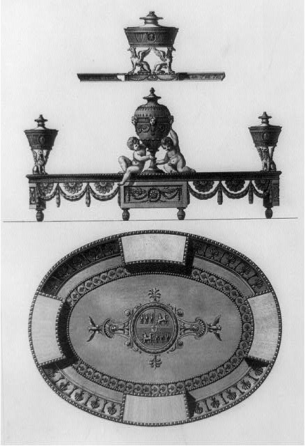 [Ink stand designed ca. 1778 for Sir W.W. Wynn at Sion-house]