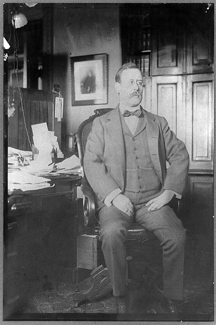 [Thomas Wilbur Cridler, 3rd Assistant Secretary of State, full-length portrait, seated, facing right]