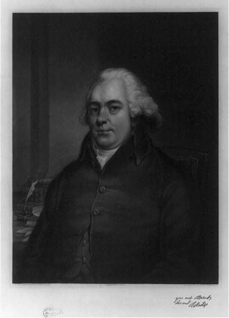 [Robert Raikes, half-length portrait, seated, facing front]