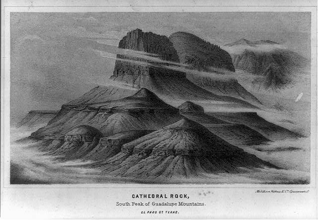 Cathedral Rock, south peak of Guadalupe Mountains, El Paso Co., Texas