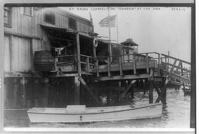 "At Broad Channel--the ""gondola"" at the door"