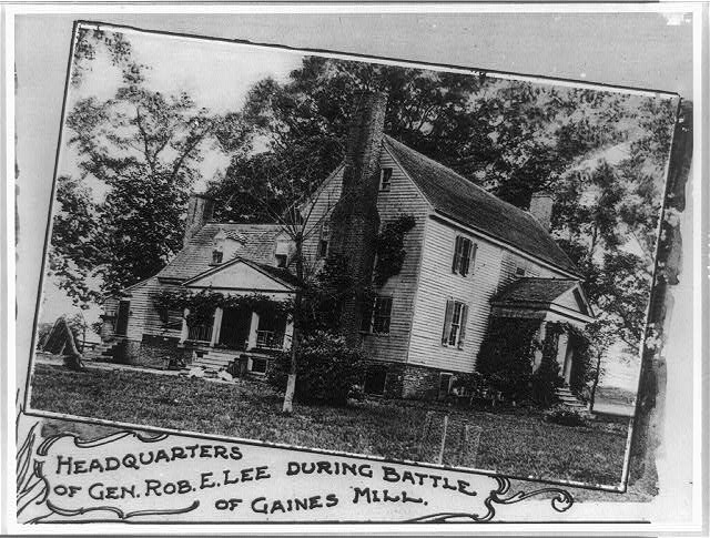 Headquarters of Gen. Rob. E. Lee during battle of Gaines Mill