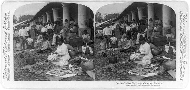 Native Indian market at Omealca, Mexico
