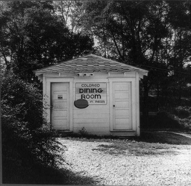 A rest stop for Greyhound bus passengers on the way from Louisville, Kentucky, to Nashville, Tennessee, with separate accommodations for colored passengers