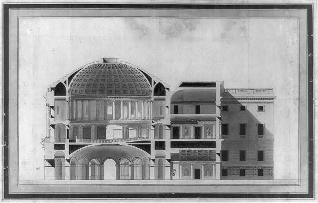 "[United States Capitol (""Federal Capitol""), Washington, D.C. Section and elevation of center]"
