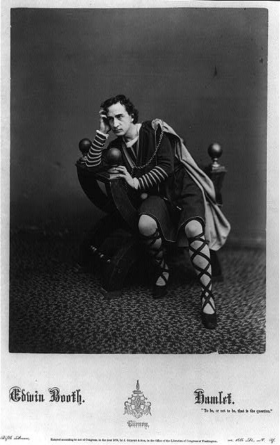 "Edwin Booth [as] Hamlet ""to be or not to be, that is the question"""
