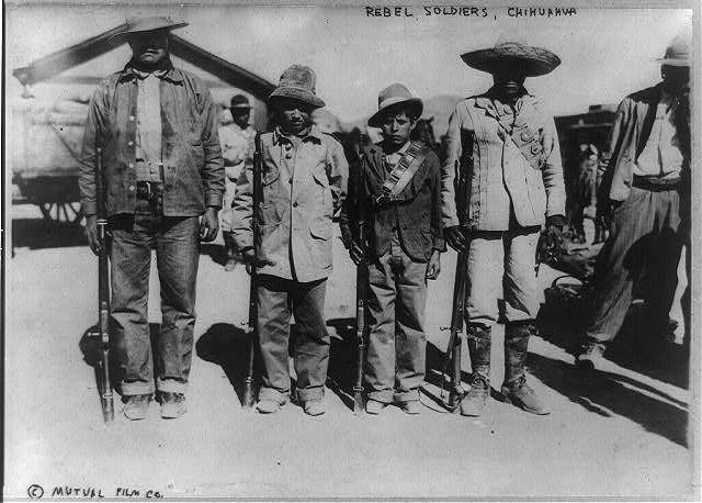Carranzista rebels near Chihuahua
