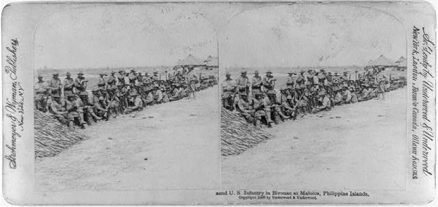 22nd U.S. Infantry in bivouac at Malolos, Philippine Islands