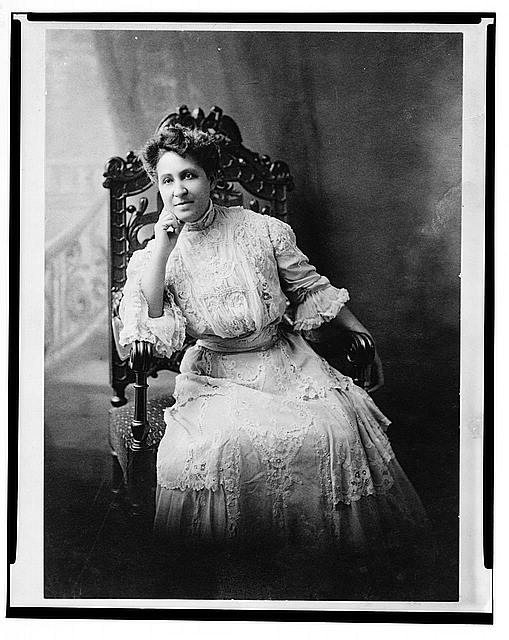 [Mary Church Terrell, three-quarter length portrait, seated, facing front]