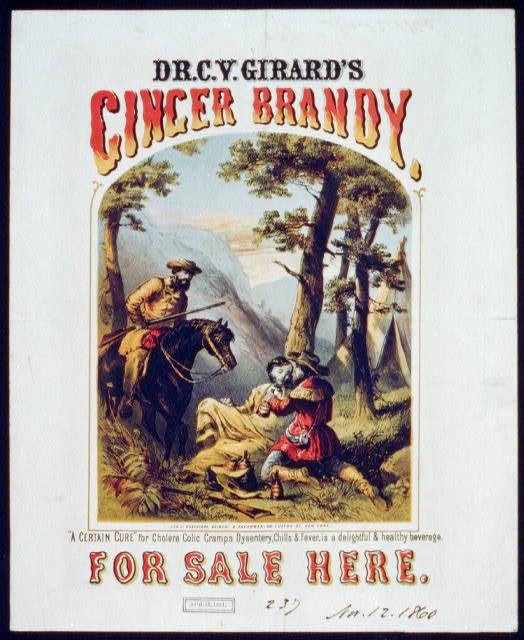 Dr. C.Y. Girard&#39;s ginger brandy, for sale here