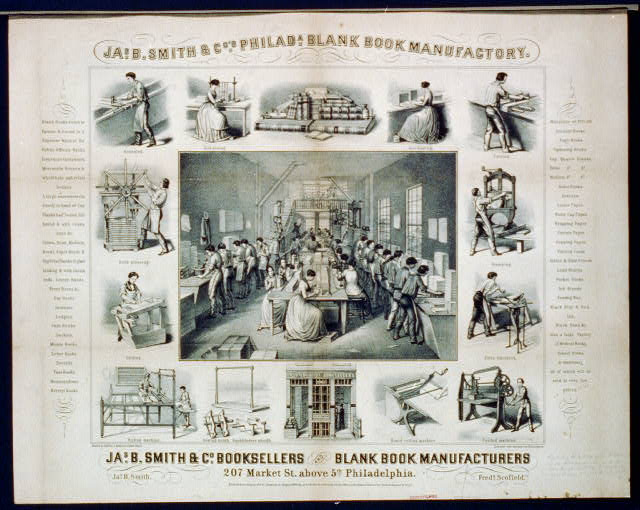 Jas. B. Smith & Co's. Philada. blank book manufactory