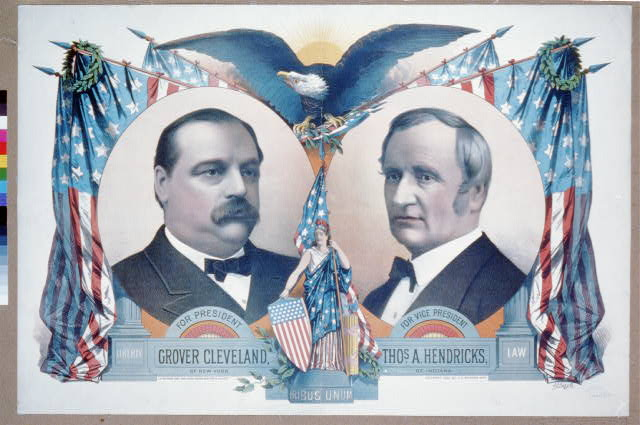 For president, Grover Cleveland of New York. For vice president, Thos. A. Hendricks, of Indiana