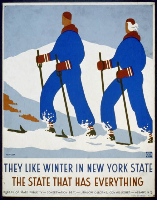 They like winter in New York State The state that has everything /