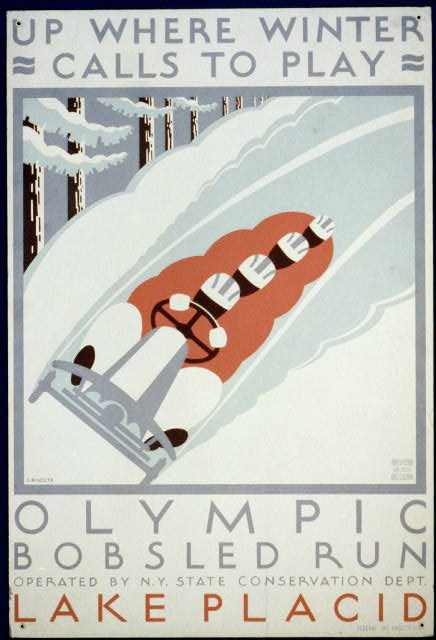 Up where winter calls to play Olympic bobsled run Lake Placid by Jack Rivolta