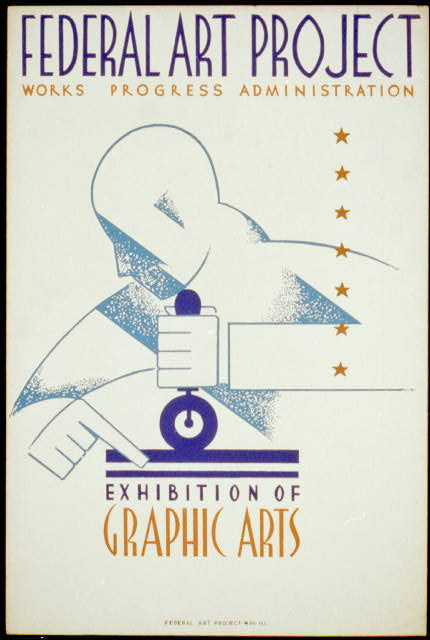 Federal Art Project Works Progress Administration exhibition of graphic arts