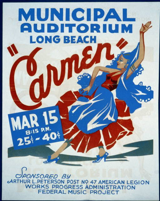 """Carmen"" Municipal Auditorium, Long Beach."