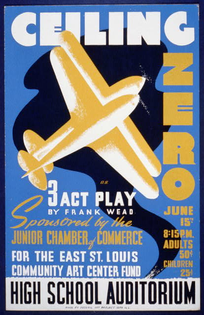 Ceiling zero 3 act play by Frank Wead : sponsored by the Junior Chamber of Commerce for the East St. Louis community art center fund /