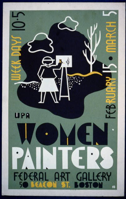 WPA women painters, Federal Art Gallery, 50 Beacon St., Boston