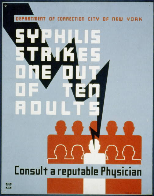 Syphilis strikes one out of ten adults Consult a reputable physician.