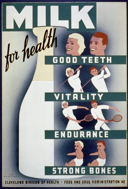 Milk - for health, good teeth, vitality, endurance, strong bones