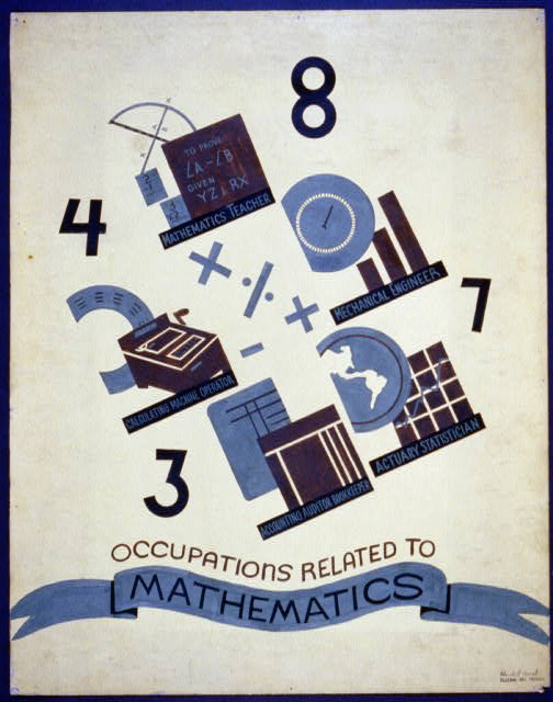 Occupations related to mathematics