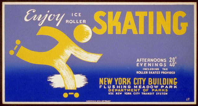 Enjoy ice roller skating