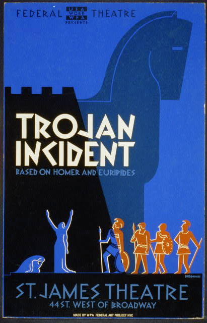 "Federal Theatre presents ""Trojan incident"" Based on Homer and Euripides /"