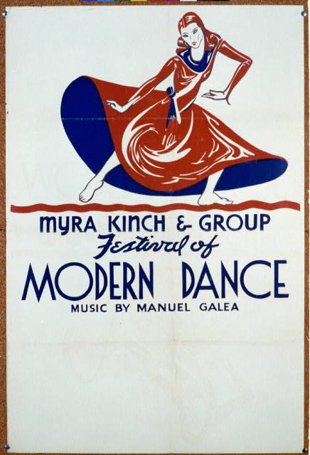 Festival of modern dance - Myra Kinch & group Music by Manuel Galea.