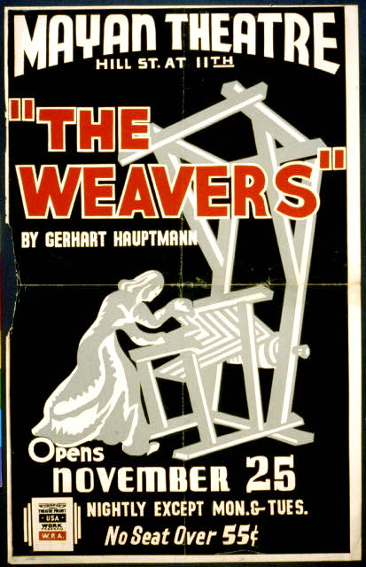 """The weavers"" by Gerhart Hauptmann opens November 25"
