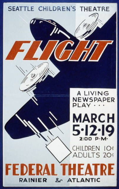 "Seattle Children's Theatre [presents] ""Flight"" a living newspaper play"