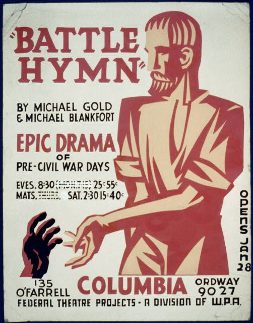 """Battle hymn"" by Michael Gold & Michael Blankfort epic drama of pre-civil war days."