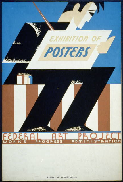 Exhibition of posters - Federal Art Project Works Progress Administration