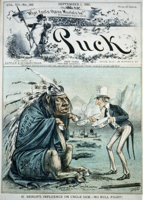 H. Bergh's influence on Uncle Sam - no bull fight!