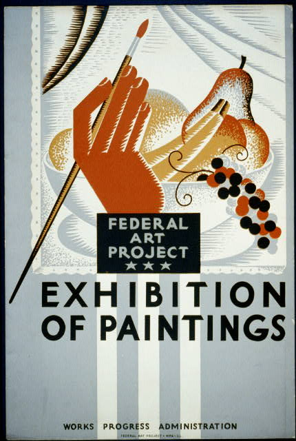 Federal Art Project - exhibition of paintings
