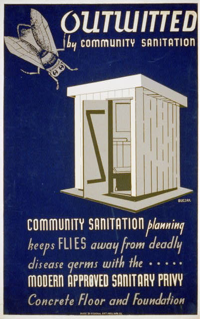 Outwitted by community sanitation Community sanitation planning keeps flies away from deadly disease germs... /