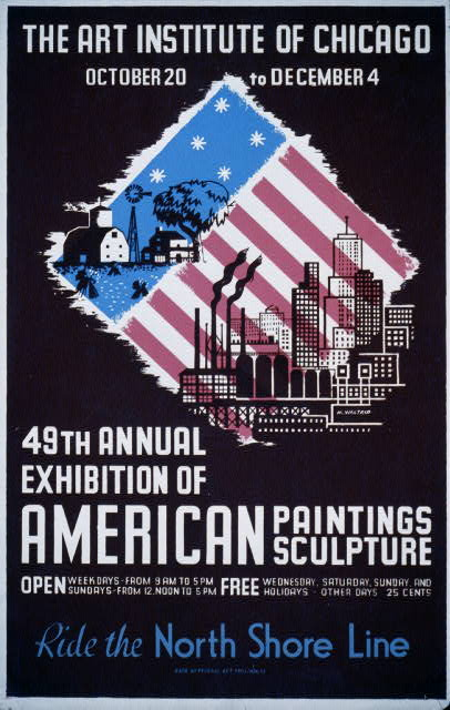 49th annual exhibition of American paintings sculpture Ride the North Shore Line /
