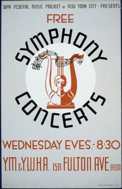 WPA Federal Music Project of New York City presents free symphony concerts