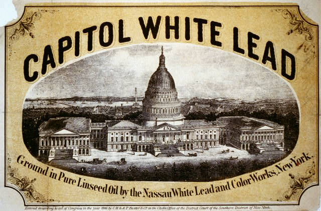 Capitol white lead - Ground in pure linseed oil by the Nassau White Lead and Color Works, New York