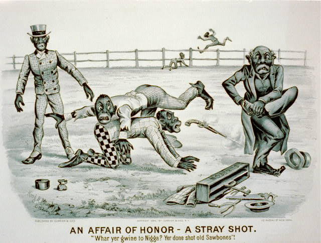 "An affair of honor-a stray shot: ""Whar yer gwine to nigga? You done shot old sawbones""!"