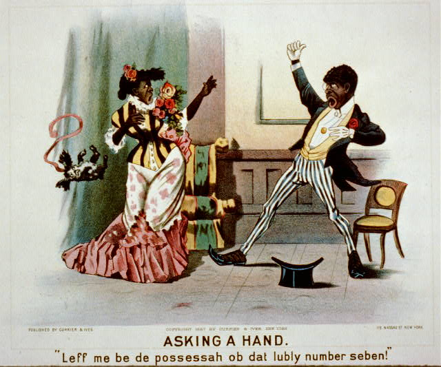 "Asking a hand: ""leff me be de possessah ob dat lubly number seben!"""