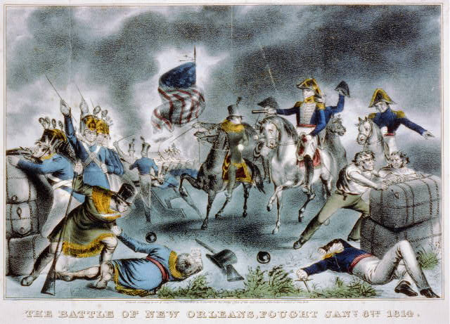 The battle of New Orleans, fought Jany 8th 1814
