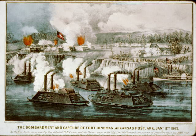 Bombardment and capture of Fort Hindman, Arkansas Post, Ark. Jany. 11th 1863