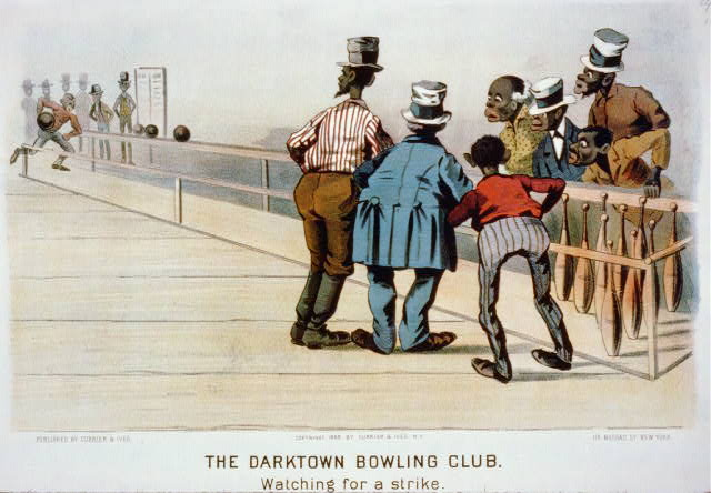 The darktown bowling club: Watching for a strike