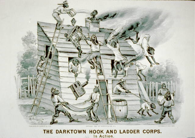 The darktown hook and ladder corps: In action