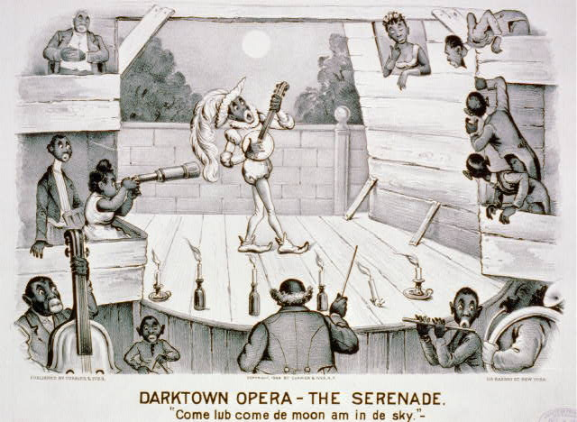 "Darktown opera-the serenade: ""Come lub come de moon am in de sky"""