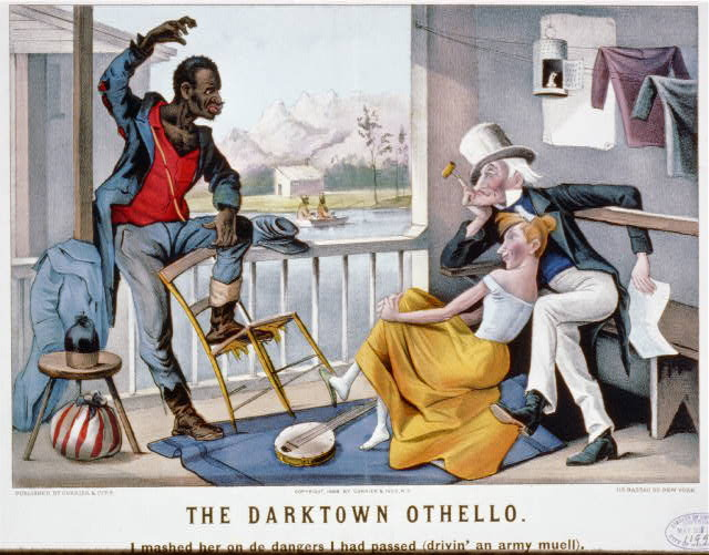 The darktown othello: I mashed her on de dangers i had passed (drivin' an Army Muell)