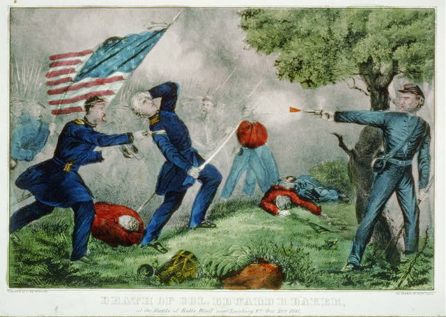 Death of Col Edward D. Baker: At the Battle of Balls Bluff near Leesburg Va. Oct. 21st 1861